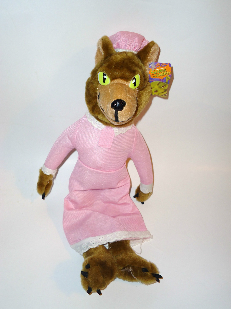 Shrek Big Bad Wolf Pink Grandma Outfit Plush Stuffed Animal