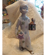Nalda Porcelain Angel with Lantern Figurine