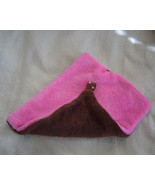 New Plush,Tag Mini Security Blanket-Pink and Br... - $9.99