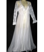 Venise Lace White Bridal Robe & Gown Set S