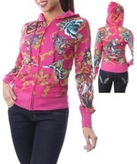 Fuscia Zip Up Hoodie by SayWhat -X Large - $14.99