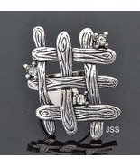 Adjustable Fence Dimante Silver Ring - $12.95