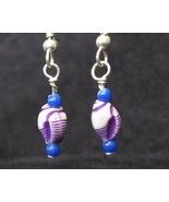 Purple Shell (Blue) Earrings - $5.00