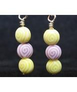 Yellow/Purple Egyptian Eye Earrings - $5.00