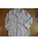 Ladies Size 16 H&M Cotton Blend Button Up Blous... - $14.99
