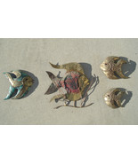 Home Decor Tropical Fish a 6 Piece Metal Wall Sculpture Set