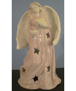 Angel Tea Light Candle Holder Pale Pink Gown St... - $9.99