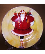 Oneida China Christmas Plate Super Size Santa A - $8.00