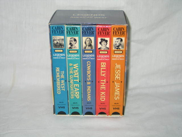 Legends of the American West  Boxed Set 5 vhs