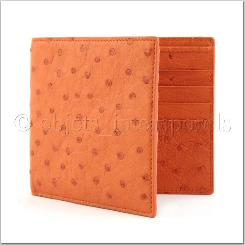 TIMELESS PIECES ostrich wallet bifold ORANGE