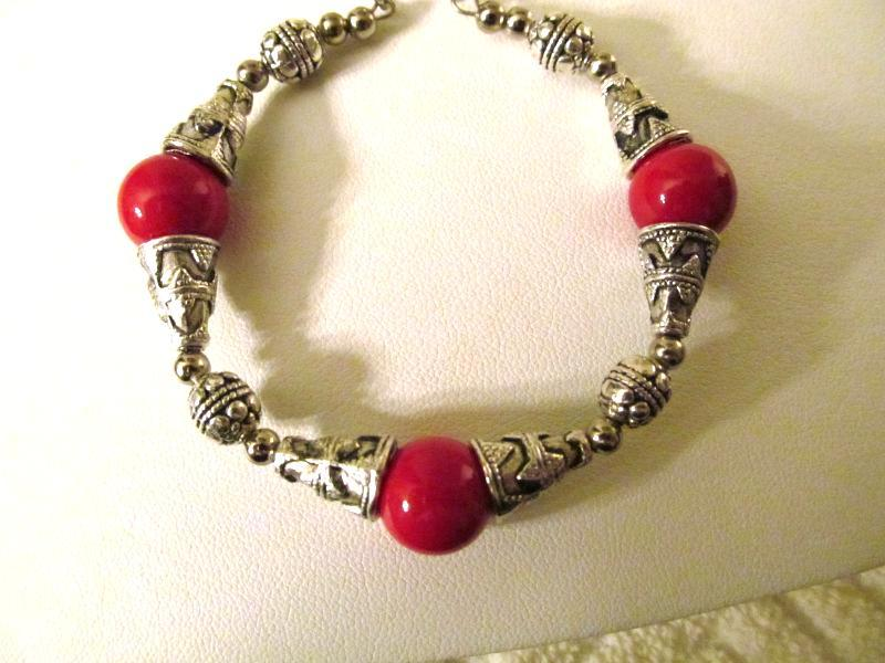 RED CORAL BRACELET that is adjustable