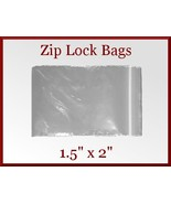 200 Zip Lock Top Recloseable Poly Seal Bags 1.5... - $6.98