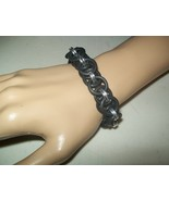 Tough Black Stretch Helm Chainmaille Bracelet - $16.00