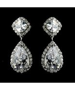 New! Silver Plated Cubic Zirconia CZ Bridal Wed... - $63.99