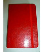 DELUXE GLOSSY RED FAUX LEATHER COVER REAR POCKE... - $9.99