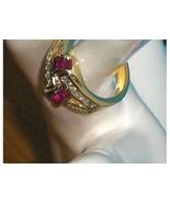 Technibond Created Pink Sapphire and CZ Simulat... - $59.00