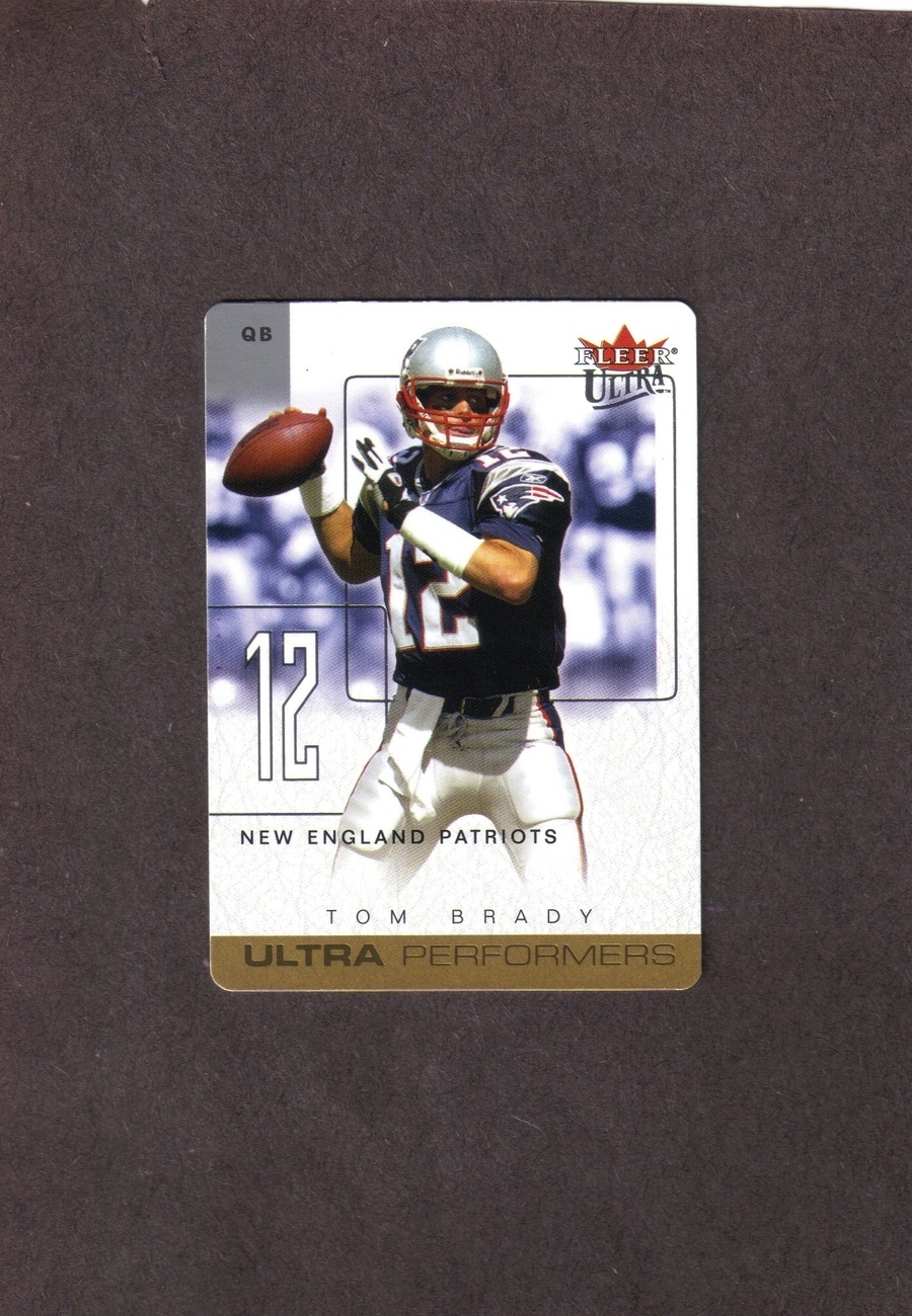 2004 Ultra Performers # 1 UP Tom Brady Patriots NM