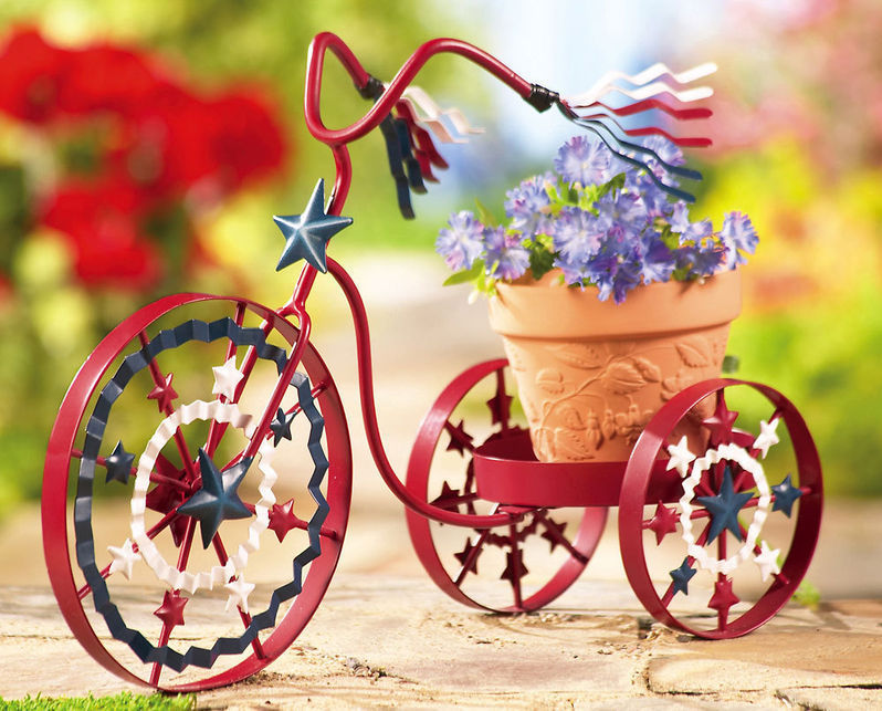 Americana Bike Planter Red For Your Garden