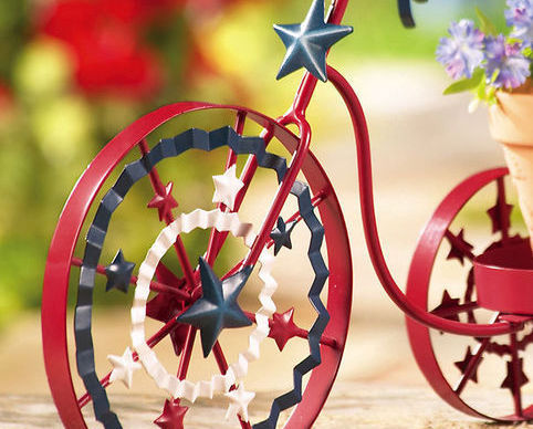 Image 1 of Americana Bike Planter Red For Your Garden