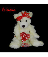 Tell Her You Love Her,Wax Dipped Plush Bear Fla... - $20.00