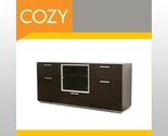 Buy Buffets & Sideboards - Modern Wenge Buffet Table Sideboard Credenza Dark Brown