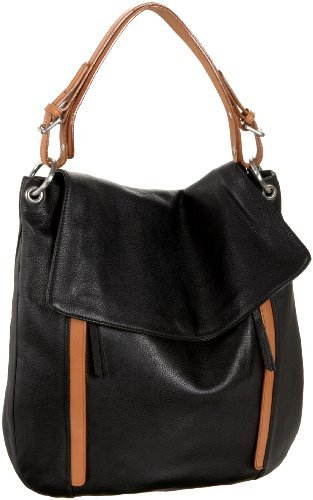Co-Lab by Christopher Kon Black Leather Hobo / Crossbody Bag