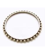 J Crew Silver Stack Bangle Bracelet Thin Beaded... - $12.00