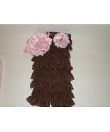 BABY GIRL BROWN  LACY PETTI  ROMPER PHOTO PROP ... - $16.00