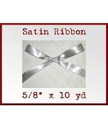 Silver Satin Single Face Polyester Ribbon 5/8 x... - $2.75