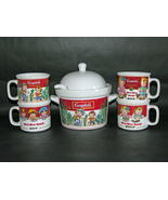 1993 Campbell's Soup Westwood 1.5 Quart Tureen with Ladle and 4 Mugs - $29.95