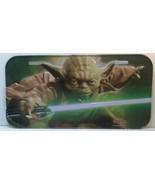 Star Wars Yoda Jedi Master License Plate Tin Company Car Tag - $7.75