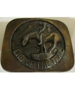 Vintage 1970s End Of The Trail Brass Belt Buckle - $19.99