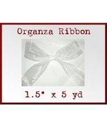 Wide White Organza Craft Ribbon 1.5 in x 5 yd - $2.48