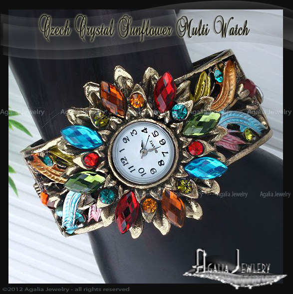 Sunflower_watch_multi_bangle