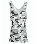 Medium Black Camouflage Tank Top Womens Sleevel... - $8.99