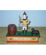 Vintage Trick Dog Cast Iron Mechanical Bank - $49.99