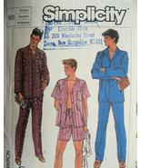 Vintage Pattern Mens Pajamas Medium Simplicity ... - $5.95