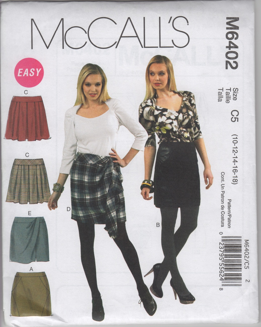McCall's 6402 Misses' Skirts Sewing Pattern - Sizes: 10-18