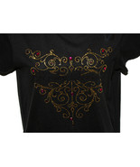 Harley Davidson Black T-Shirt Gold and Purple C... - $24.99