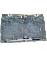 Hollister Mini  Distress Denim skirt Size 9 - $9.95