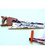 Hand Painted Mini Winter Covered Bridge Handsaw... - $18.75