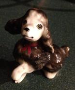 Vintage Miniature Black Poodle Figurine - $6.00