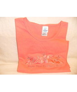 Women Marco Beach T Shirt Coral Embroid Rhinest... - $16.99