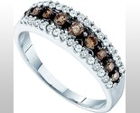 Buy 10K White Gold Chocolate & White Diamond Band Ring