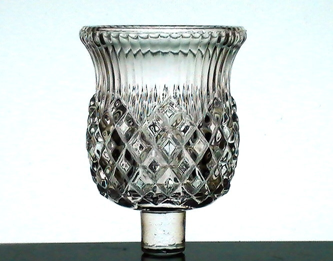 Peg Votive Holder Partylite Combed Diamond Cut Clear