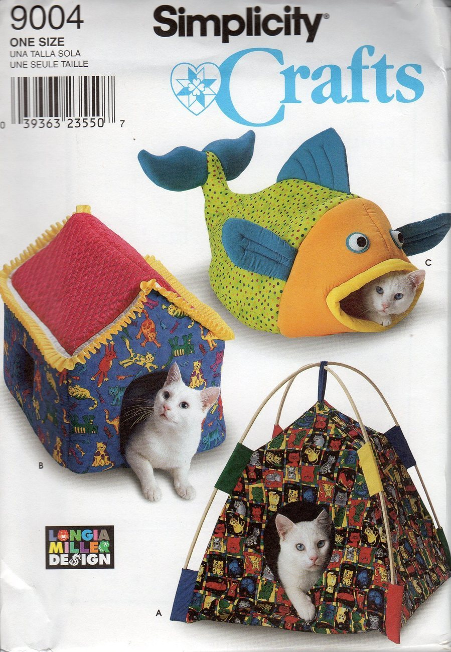 Pets3000.com - Free patterns cat cuddle bed