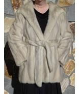 Make her winter! Genuine Mink Toumaline Champagne Jacket sz L/XL Mint Luxury Fur - $219.00