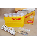 Vintage Clairol Set to Go Travel Portable Hot Hair Rollers Curlers 5 Pieces Box - $49.99