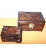Oriental Wooden Carved Trinket Box 2 - $75.00