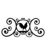 Rooster Over Door Plaque Flat Black Powder Coat... - $29.94